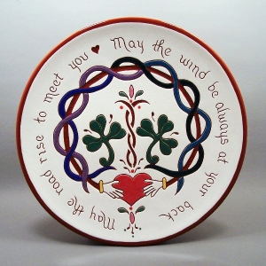 10 in. Irish Blessing Plate - $49.