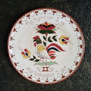 10 in. Rooster Plate - $ 49.