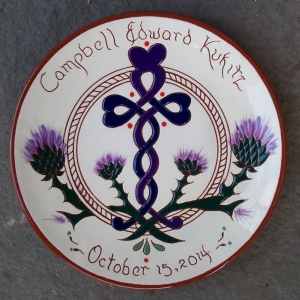 "New Version #19 -  8"" Birth Plate - $ 39."