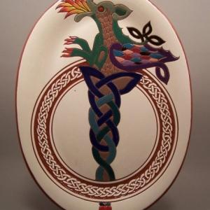 10 in. x 13 in. Dragon Platter - $95