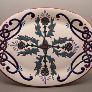 10 in. x 13 in. Thistle Platter - $95