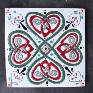 6 in. Square Four Leaf Clover Tile Trivet - $25.