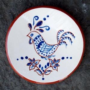 Blue Chicken Tea Dish - $8.