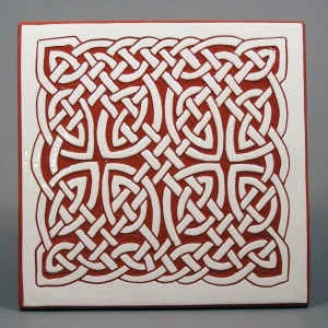 6 in. square Lace Knot tile trivet - $20
