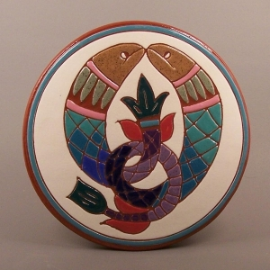 6 in. round Fish tile trivet - $25.