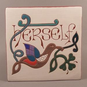 6 in. square Herself tile trivet - $25.