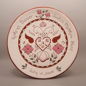 #11 - 10 in. Wedding Plate - $49.