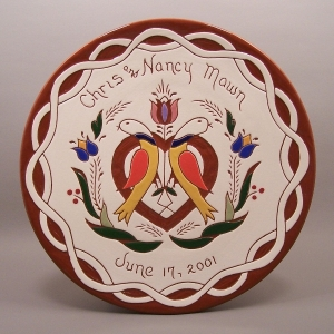 #8 - 10 in. Wedding Plate - $49.