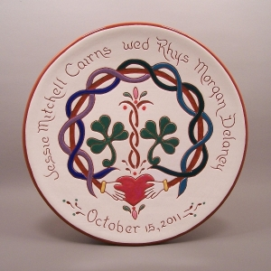#18 - 10 in. Wedding Plate - $49.
