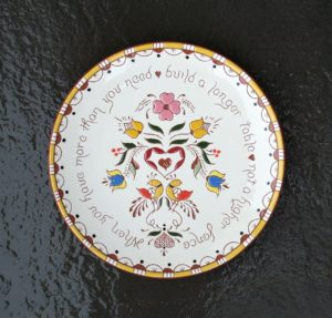 10 in. PA. Dutch 'Table' Plate - $49.
