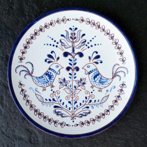 8 in. Blue Chicken Plate - $39.