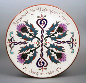 #20 - 10 in. Wedding Plate - $49.